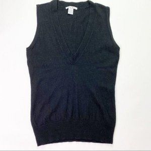 CAbi Black Pullover Lamb's Wool Vest Sweater Top